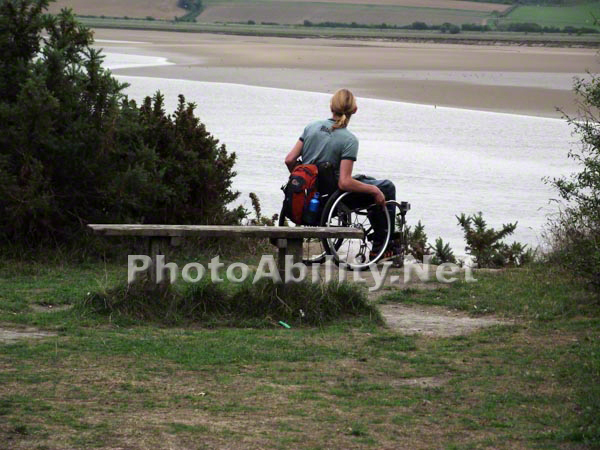 Young man in a wheelchair exploring the Devon countryside