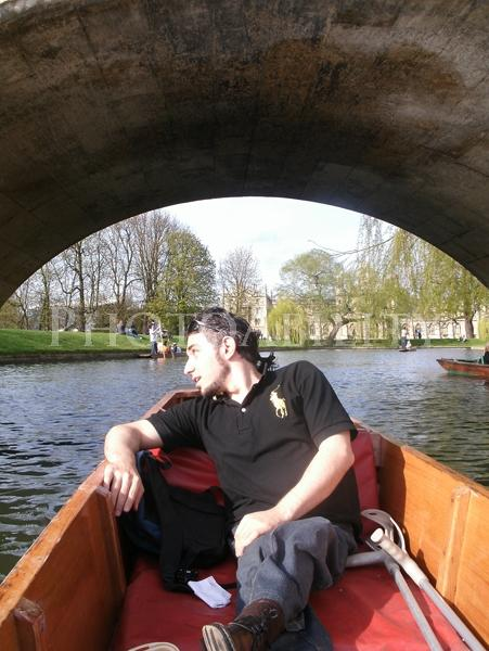 Punting at Cambridge River, UK