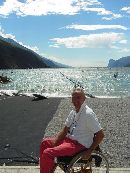 Man by lake