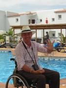 Tourist-at-resort-pool