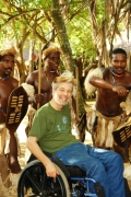 Scott-Rains-with-Zulu-dancers-at-traditional-Zulu-village-in-Kwazulu-Natal