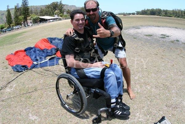 Skydive Landed in chair