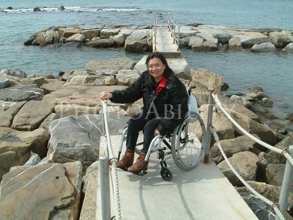 Non accessible beach access