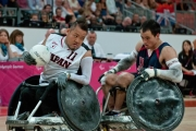 CHUCK-AOKI-USA-5-pursues-SHIN-NAKAZATO-JPN-11-in-the-mens-wheelchair-rugby-bronze-game-at-the-2012-Paralympic-Games.