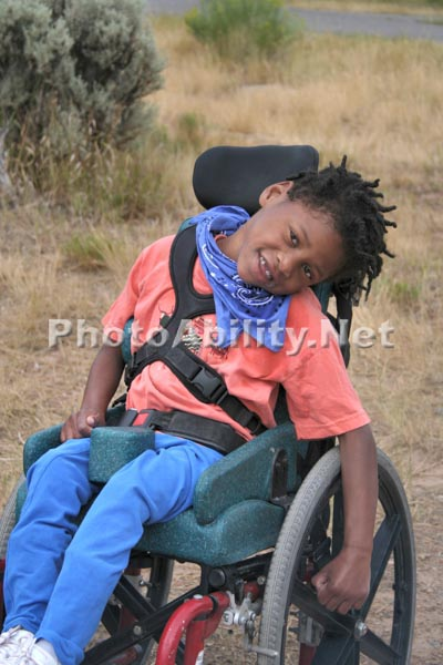 Young Girl in a wheelchair