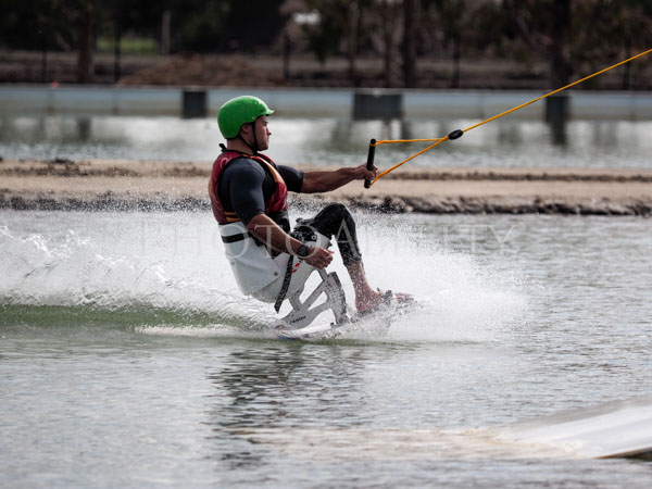Adaptive wake boarding at the new Melbourne Cable Park @melbournecablepark