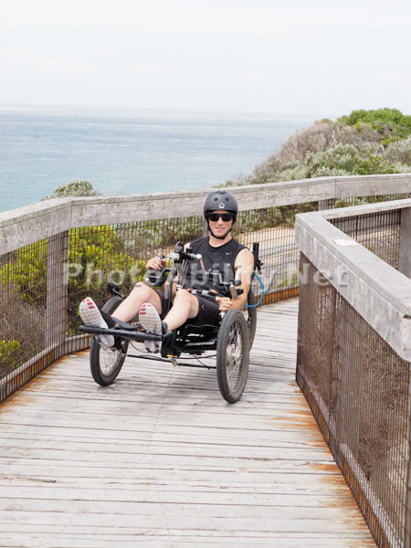 Offroad handcycling in Melbourne's Point Nepean National Park
