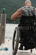 wheelchair;disabled;disability;access;accesible;inclusion;inclusive;leisure;travel;man;male;dock;jetty;lake;outdoors