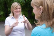 Women-using-sign-language-at-The-Nottinghamshire-Deaf-Society,