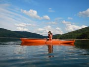 Young-woman-in-her-adaptive-kayak