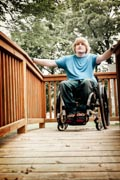 Young-man-on-wheelchair-ramp