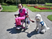 disability;disabled;girl;female;woman;service-dog;access;accessibility;adaptive;lifestyle;leisure;family;wheelchair