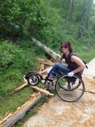 Woman-on-bush-trail