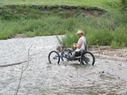 disability;outdoor;accessible;disabled;adventure;handcycle;offroad;reactiveadaptations;cycle;man;male;fishing