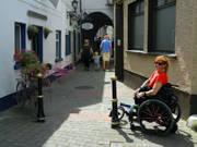Woman-using-wheelchair-exploring-Killarney-Ireland