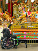 Woman-using-wheelchair-on-holidays-in-London