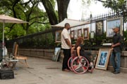 Mother-using-wheelchair-exploring-the-French-Quarter-of-New-Orleans-with-her-family