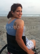 wheelchair;woman;female;disability;disabled;beach;sun;ocean