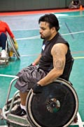 Man-playing-quad-rugby
