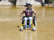 Self-propelled-beach-wheelchair