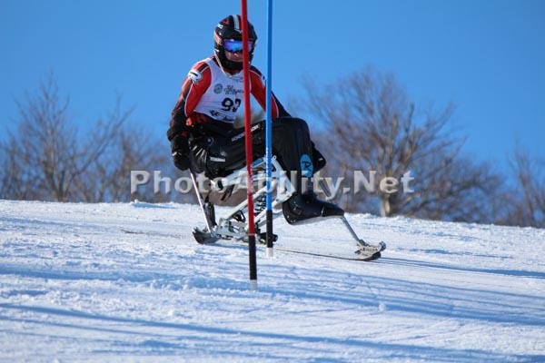 Alpine sit ski racing