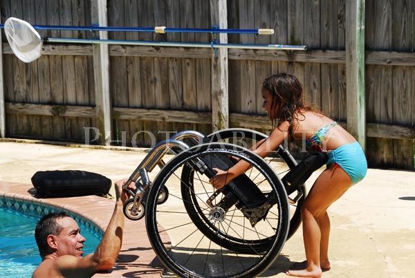 Family fun around the pool