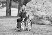 Woman-using-wheelchair-visiting-the-Raleigh-Museum-of-Art
