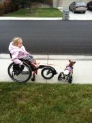 Girl-walking-dog