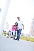 Young-mother-to-be-in-wheelchair