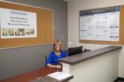 Female-receptionist-using-wheelchair