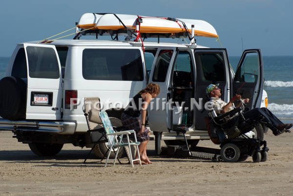 Senior couple with their campervan