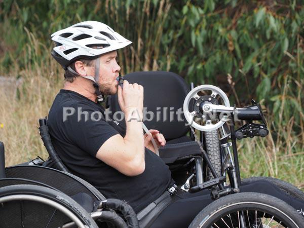 Handcycles at the Giant Odyssey  mountain bike marathon