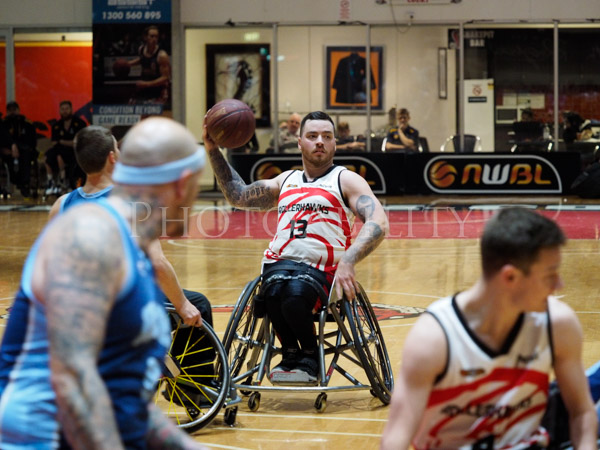 Kilsyth, Victoria, Australia. 20th August, 2017. NWBL Gold Medal Final won by the Wollongong Roller Hawks over the Blues Wheelchair basketball Club 79-70.