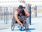 Wheelchair-racing-training-session