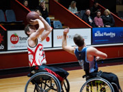 Kilsyth,-Victoria,-Australia.-20th-August,-2017.-NWBL-Gold-Medal-Final-won-by-the-Wollongong-Roller-Hawks-over-the-Blues-Wheelchair-basketball-Club-79-70.