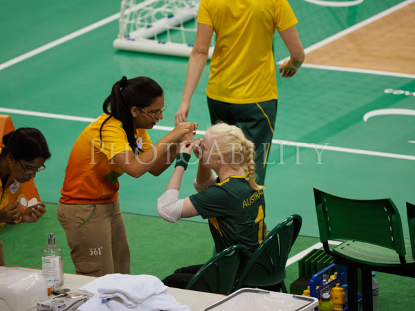 Rio 2016 Paralympics, Goalball pool round match Australia vs Ukraine