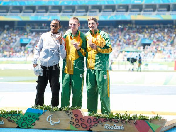Rio Paralympics, Mens 100m T37 medal presentation