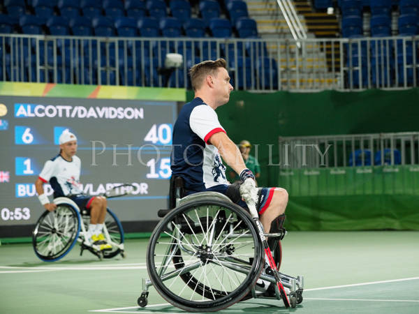 Rio 2016 Paralympics, Dylon Alcott and Heath Davidson, Australia are though the Gold Medal Round of the men's quad doubles with a win over Any Lapthorne  and Jamie Burdekin, Great Btitain