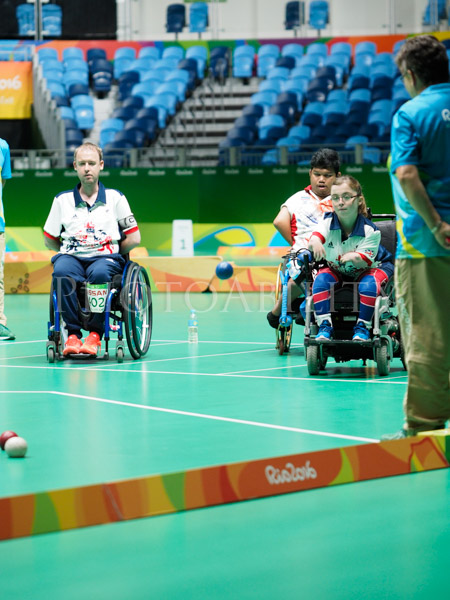 Rio 2016 Paralympic Games mixed Boccia pairs BC 4 Bronze Medal game between Thailand and Great Britain