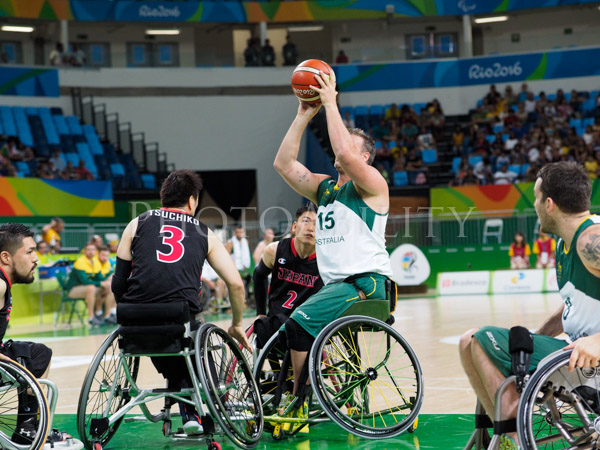 Rio 2016 Men's wheelchair basketball, pool match between Australia and Japan