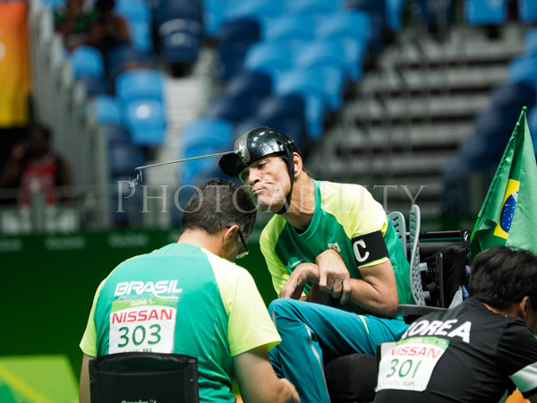 Rio 2016 Paralympic Games Pairs Gold Medal final between Brazil and Korea.