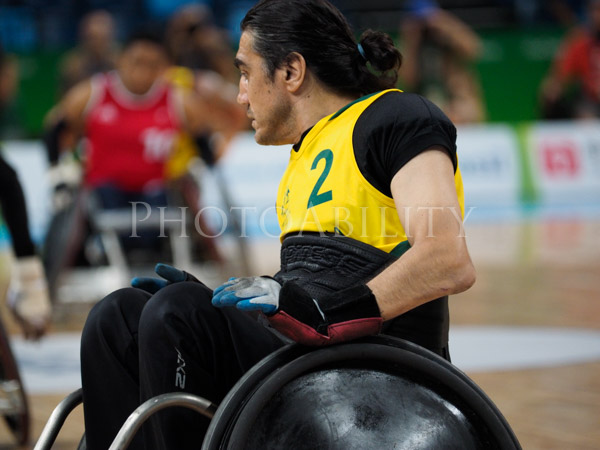 Rio Paralympic Games. Opening game of the wheelchair rugby competition, pool A match between the Australia Steelers and Great Britain