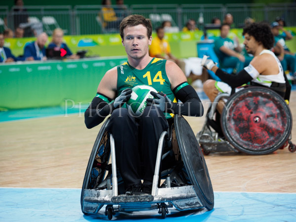 Rio 2016 Paralympic Games Wheelchair Rugby pool match between Australia and Brazil