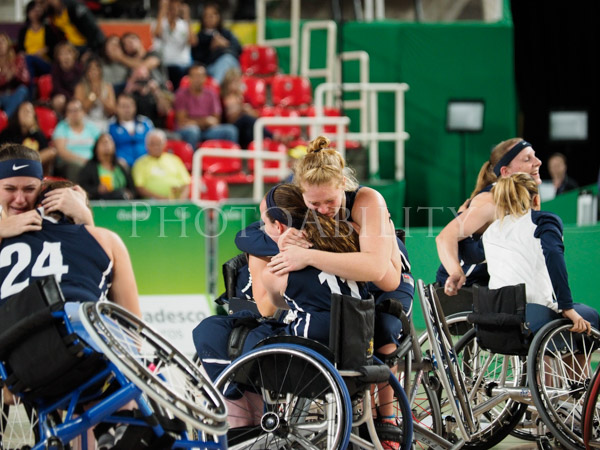 Rio 2016 Paralympics womens wheelchair basketball Gold Medal match between Germany and the United States. The US took the Gold with a 62 to 45 over Germany.