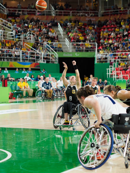 Rio 2016 Paralympics, womans wheelchair basketball pool match between Germany and Great Britain