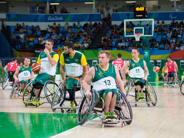 Wheelchair basketball pool match between Australlia and Turkey