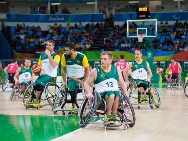 Wheelchair basketball pool match between Australlia and Turkey
